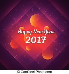 happy new year 2017 celebration design