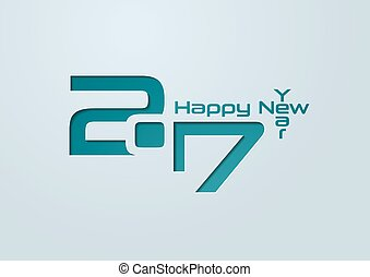 Happy New Year 2017 Cut Paper Background