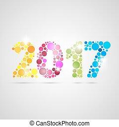 happy new year, 2017, design., vektor, illustration.