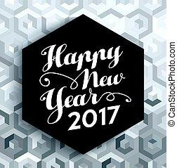 Happy New Year 2017 elegant silver background