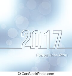 Happy New Year 2017. - Abstract background with bokeh...