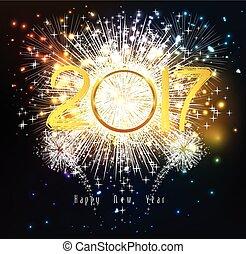 Happy new year 2017 Fireworks