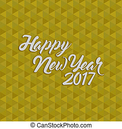 happy new year 2017 gold illustration
