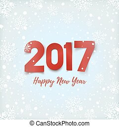 Happy New Year 2017 greeting card.