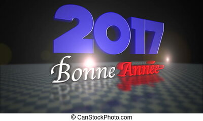 Happy New Year 2017 Greeting in French Language