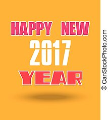Happy New Year 2017 greetings holiday card