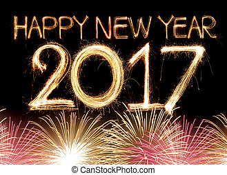 happy new year 2017 - Happy new year 2017 word made from...