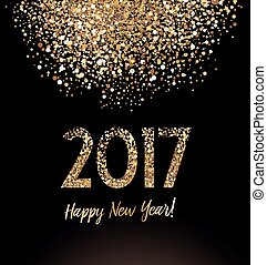Happy New Year 2017 - New Year greeting card