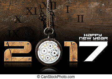 Happy New Year 2017 - Old Pocket Watch