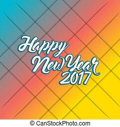happy new year 2017 rainbow