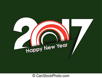 happy new year 2017 text background with ring