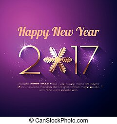 Happy New Year 2017 text design. Vector greeting ...