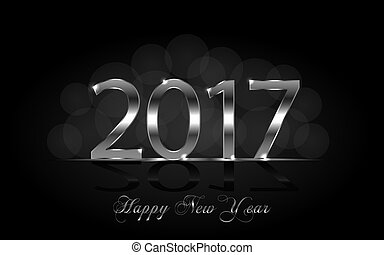 Happy New Year 2017. Vector background