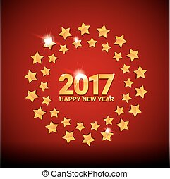 happy new year 2017 vector background