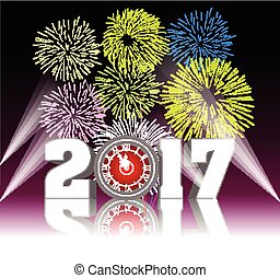 Happy new year 2017 with Firework