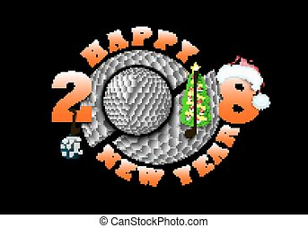 Happy new year 2018 and  golf
