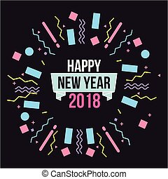 happy new year 2018 card greeting banner celebration
