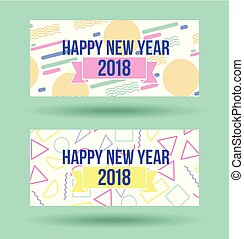 happy new year 2018 card greeting celebration party