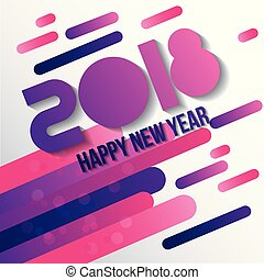 happy new year 2018 card greeting creative design