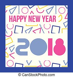 happy new year 2018 card greeting