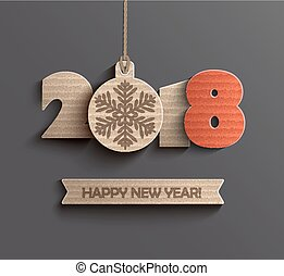 Happy new year 2018 design. - Creative happy new year 2018...
