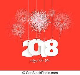 Happy new year 2018 firework