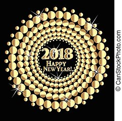 Happy New Year 2018 gold background