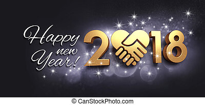 Happy New Year 2018 Greeting card for sharing - Greetings...