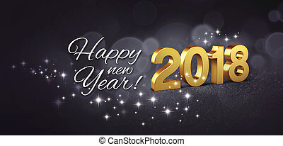 Happy New Year 2018 Greeting Card - Happy New Year greetings...