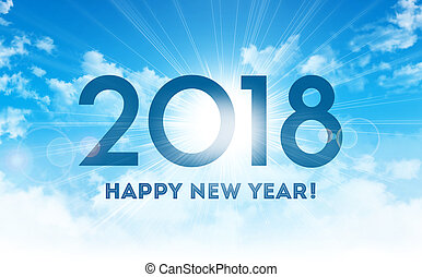 Happy New Year 2018 Greeting Card - New Year greetings 2018...