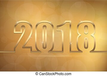 happy new year 2018 greetings background