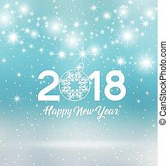 Happy New Year 2018, vector illustration Christmas...