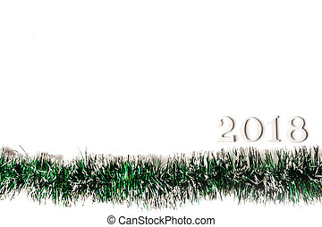 Happy New Year 2018 on a white background.