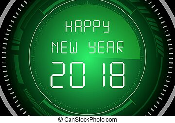 Happy New Year 2018 on Radar Screen