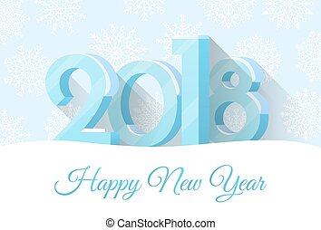 Happy New Year 2018 Poster Vector Illustration - Happy New...