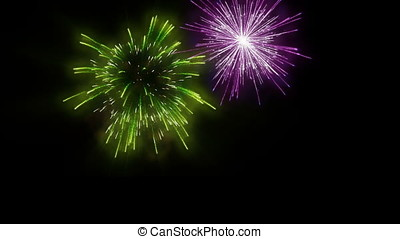 Happy New Year 2018 sparkler Writing with Colorful Fireworks