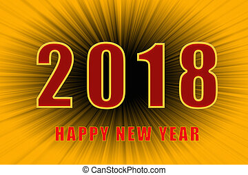 Happy new year 2018 text
