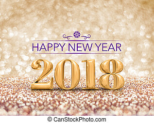 happy new year 2018 year number ( 3d rendering ) at...