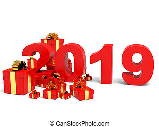 Happy new year 2019 and gifts.