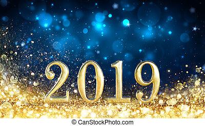 Happy New Year 2019 - Glitter Golden Dust