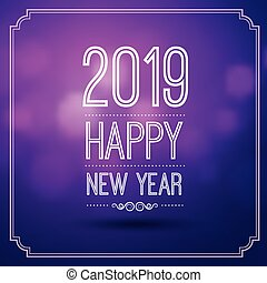 Happy new year 2019 - happy new year 2019 in violet bokeh ...