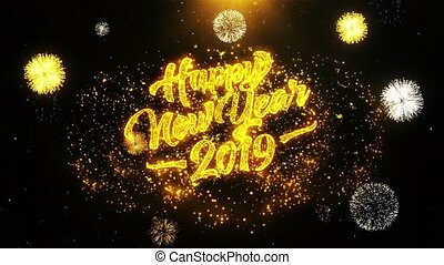 Happy New Year 2019 Wishes Greetings card, Invitation,...
