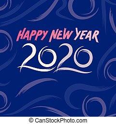 Happy new year 2020 card design