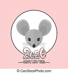 Happy New Year 2020 of the Mouse