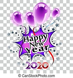 Happy New Year 2020 transparent