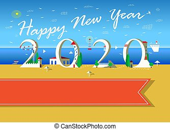 Happy New Year 2020. White Houses