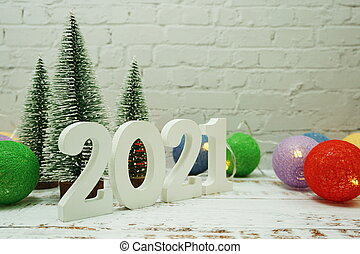 2021 Christmas White Background Happy New Year 2021 Festive Background With Christmas Tree On White Brick Wall Background Canstock