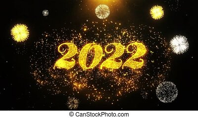 Happy New Year 2022 Wishes Greetings card, Invitation,...