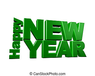 Happy new year - 3d image, happy new year