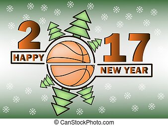 happy new year and basketball